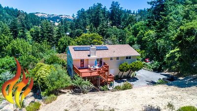 14 Aztec Avenue Forest Knolls CA Aerial Photos-7