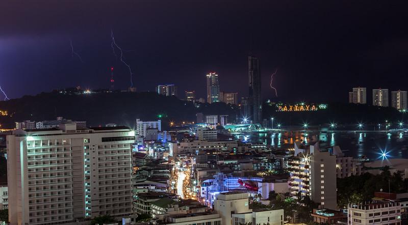 Pattaya Lightening Storm