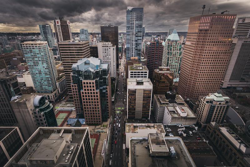 Vancouver City Skyline (facing West)
