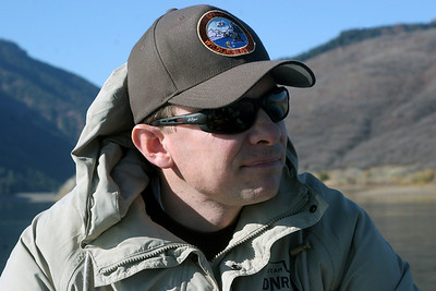 Matt McKell, biologist in the Division of Wildlife Resources Northern Region.  Photo taken 10-31-07 by Phil Douglass, Utah Division of Wildlife Resources.
