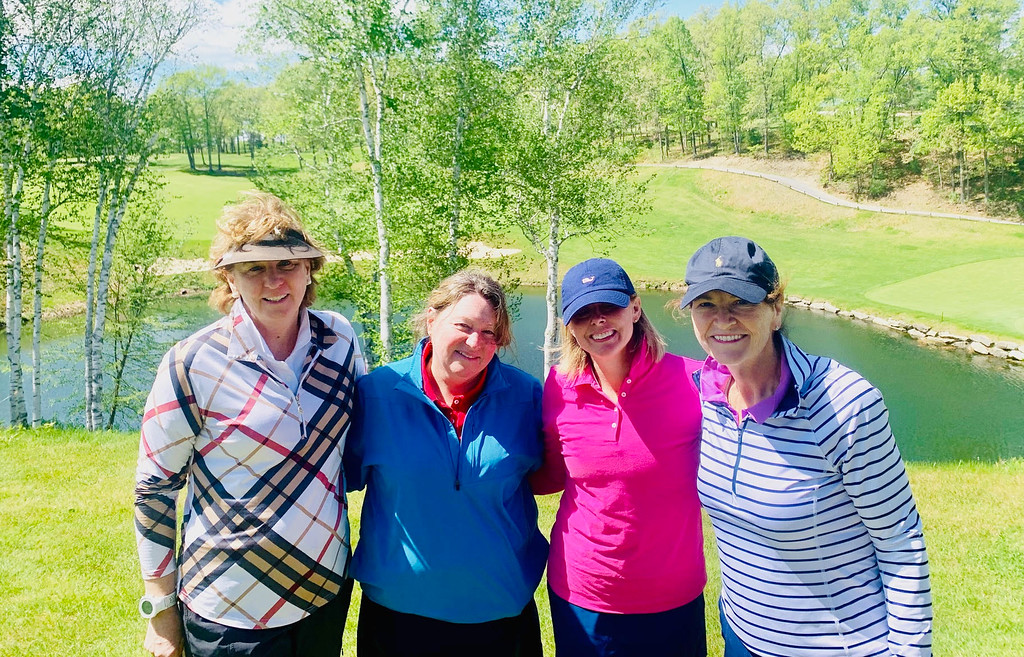 . From left, Trish O�Donnell of Lowell, Kathy Dechirico of Methuen, Kaitlin Swett of Lowell and Maura Sweeney of Reading