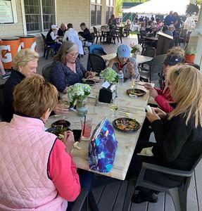 Lovely ladies enjoy lunch.