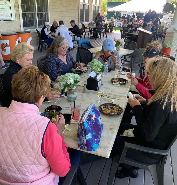 . Lovely ladies enjoy lunch.
