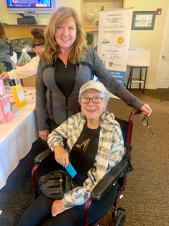 . Co-chair Jill Adie and D�Youville resident Emma Fried, who spoke at the event