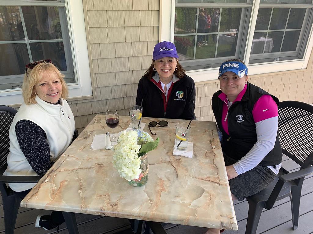 . From left, Dianne McDermott of Haverhill, Clare Macoul of Windham, N.H., and Trisha Stevens of Malden