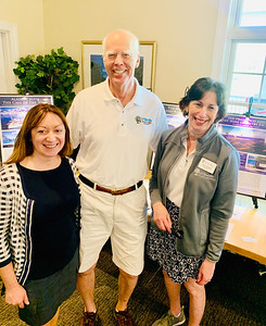 D'Youville's team, from left, Tara Dhar of Stowe, Director of Advancement and Foundation Director Don Main of Chelmsford, and President and CEO Naomi Pendergast of North Andover