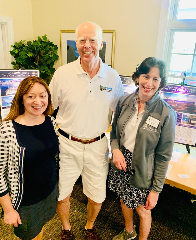 . D�Youville�s team, from left, Tara Dhar of Stowe, Director of Advancement and Foundation Director Don Main of Chelmsford, and President and CEO Naomi Pendergast of North Andover