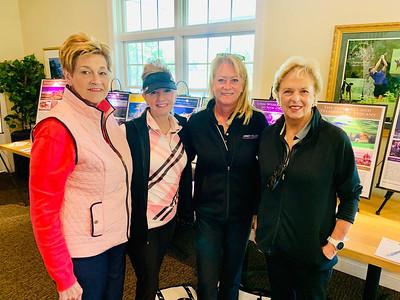 From left, Renee Psoinos of Hudson, Allyson Fortune of Tyngsboro, Robin Koravos of Westford and Honoree Marilyn Campbell of Tyngsboro