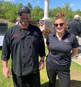 Red Tail chef Chip Edgar of Winchendon with Hannah Barns of Dunstable