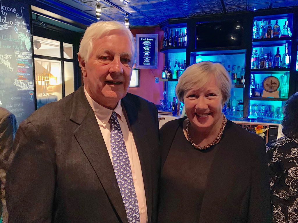 . John O�Connor and City Manager Eileen Donoghue of Lowell