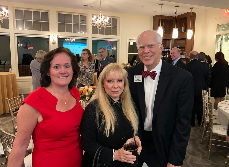 From left, Diane D'Onfro of Nashua, The Z-List's beautiful cousin Cathy Curtis of Merrimack, N.H., and D'Youville's Don Main of Chelmsford