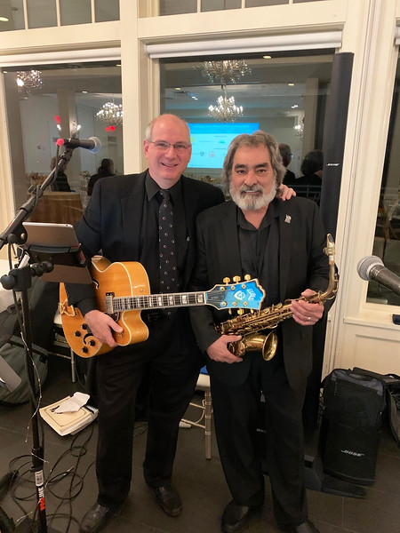 Chris Brunelle of Pelham and Paul Belley of Lowell provided the evening's entertainment.