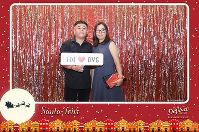 DaVinci Gourmet Vietnam | Santa Tour Event instant print photobooth in Nha Trang | Chụp ảnh in hình lấy liền tại Nha Trang | Photobooth Nhatrang