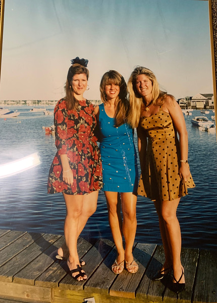 The Chelmsford Zouzas sisters — Elaine,  Tanya and Dacey — in Nantucket back in the day