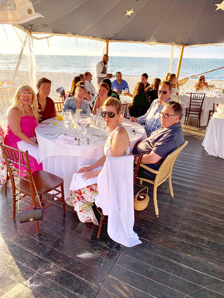 Dinner at Galley Beach