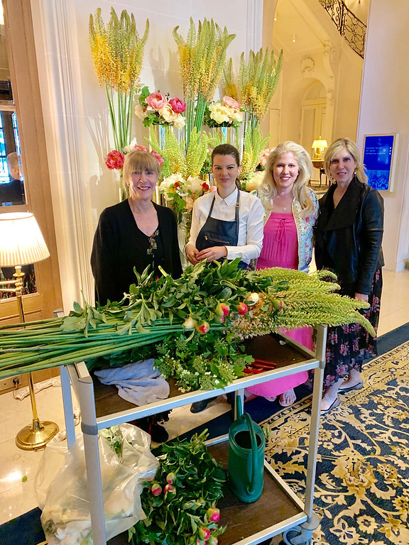 . Mary the florist always has beautiful fresh flowers in the lobby at the Ritz Paris.