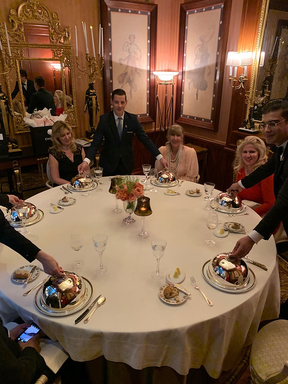 . Dining in a private room at Auguste Eacoffier in the Ritz