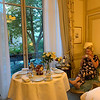 Enjoying my coffee at the suite at the Ritz Paris