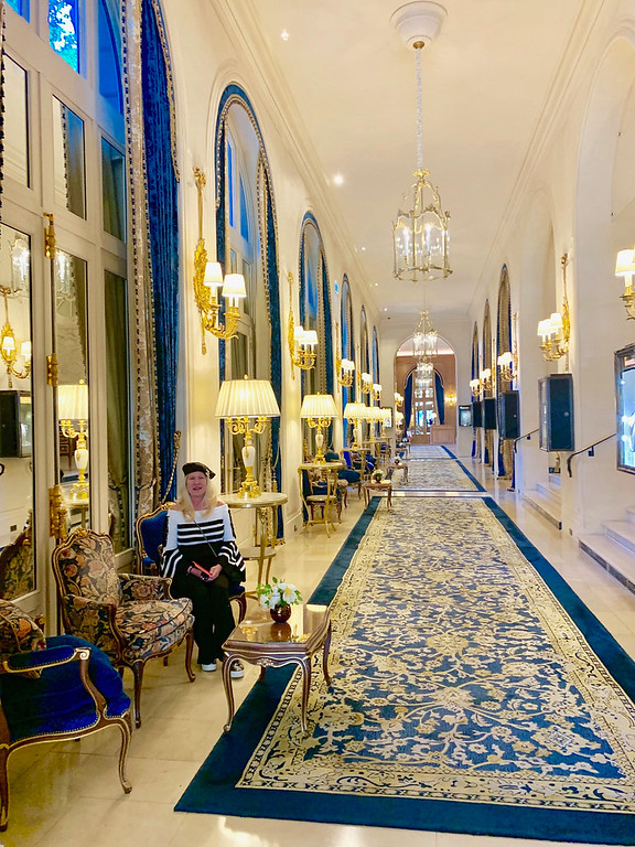 . The Ritz Paris hallway and rooms are gorgeous.
