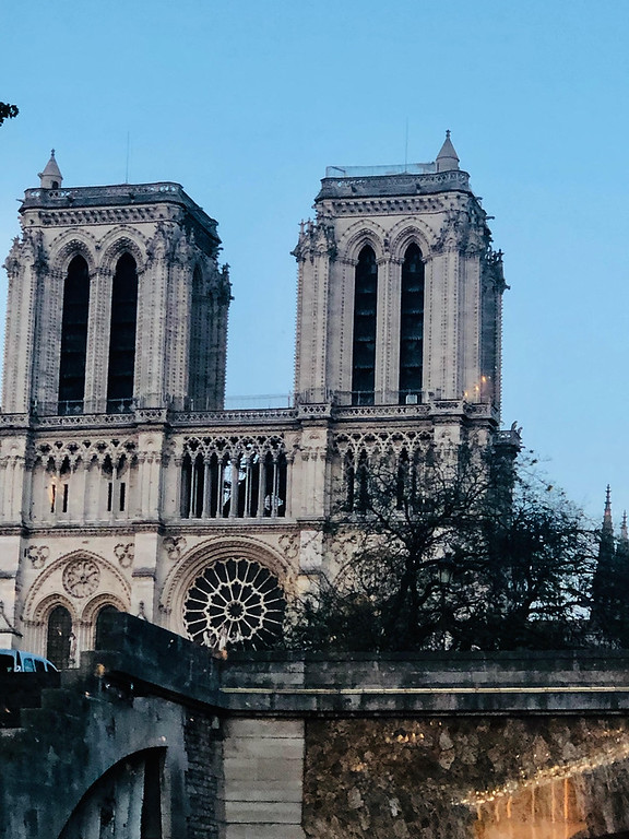 . Notre Dame Cathedral still stands tall after the recent horrific fire.