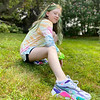 Prue Correia of Chelmsford shows off her sneakers.