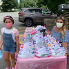 Aubriella Greene of Chelmsford gets her sneakers custom-painted by Angelina Tavares