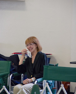 Pink's owner Ellen Walker Shearer reacts to the judge's decision in Winner's class.