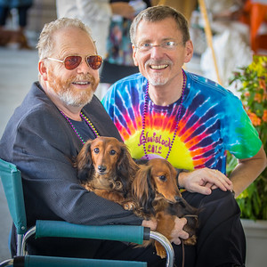 Geoffrey and Galen Pose with SeQueL and Zeniuth at Woofstock