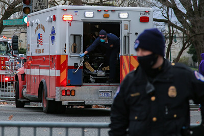 Emergency personnel respond at the U.S. Capitol