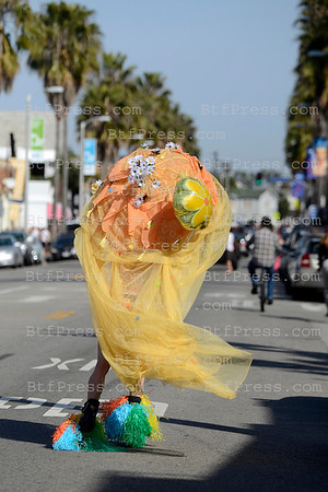 Exclusive: Daddy Gaga on roller in Venice California.