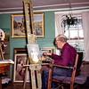 Einar Olstad, Badlands Painter, Theodore Roosevelt NMP, ND, August 1952