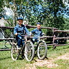 John and Bob on Bob's birthday, Theodore Roosevelt NMP, ND, June 1953