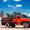 Kids & fire truck, TRNMP, July 1953