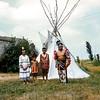 Running Elk and children, August 1954, Pipestone NM, MN