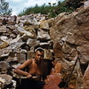 Eph Taylor in quarry at Pipestone NM, MN - 1955