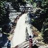 Mom and Jean at Barings Falls, Glacier National Park, MT - 1959