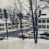 Hocky pond in front of Gilman House, winter, Phillips Eeter Academy, 1963