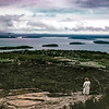 Bar Harbor and the Porcupines from Cadillac Mtn, Acadia NP, ME, September 1970