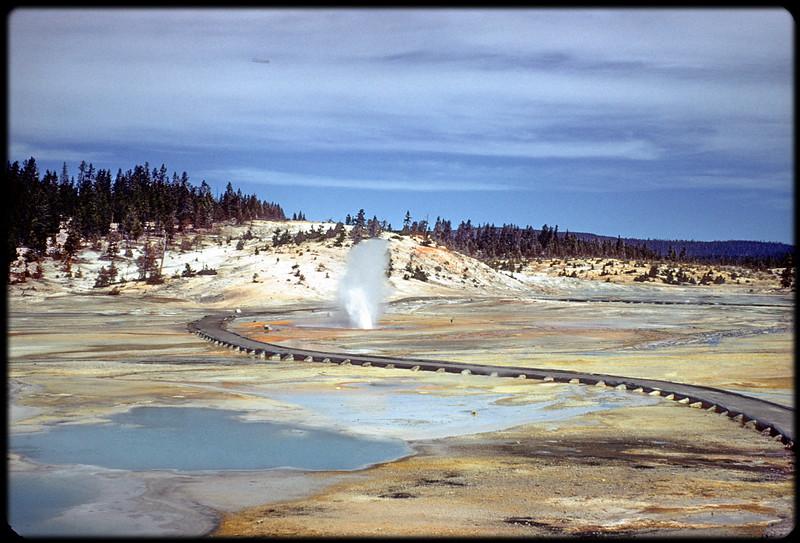 Geysers at Yellowstone. Trip to Milwaukee, June 1956.