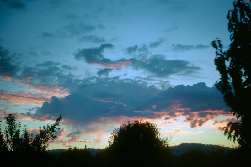 Sonoma sunset, summer, 1962.