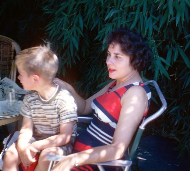 Patio, summer, 1962.