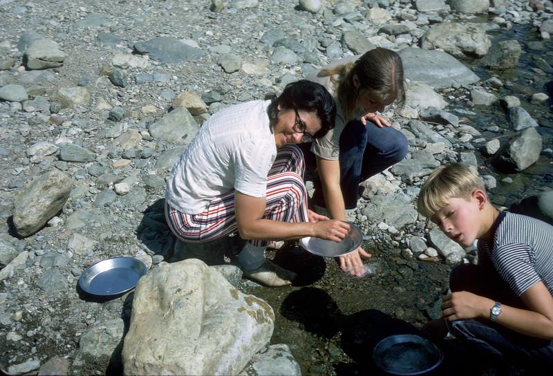Gold panning, Jamison Creek, August 1973.
