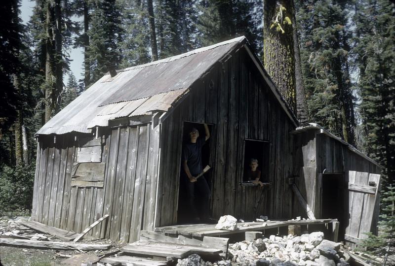 Abandoned cabin near Upper Jamison Creek, August, 1973.