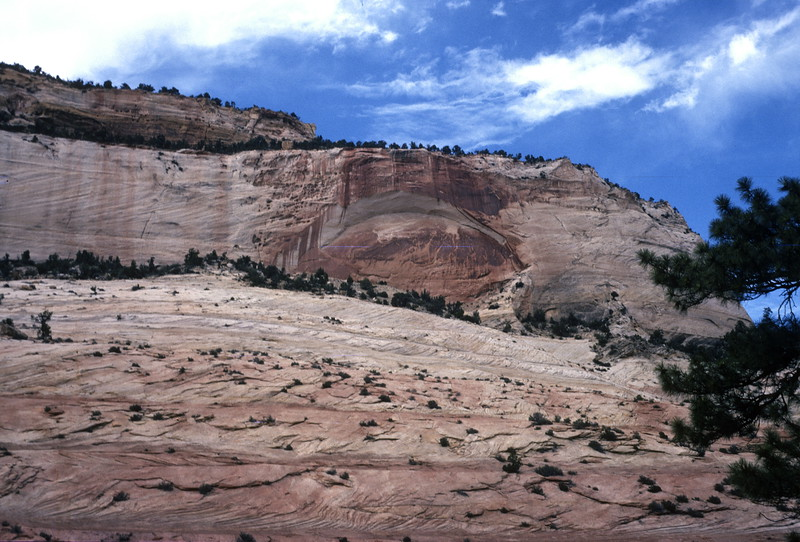 Pine Creek Road (Utah SR 9), Zion National Park, 1974.
