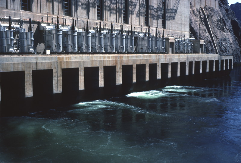 Outlet Works, Hoover Dam, 1974.