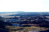 Petrified Forest National Park, Arizona, 1978. Painted Desert view from Kachina Point.