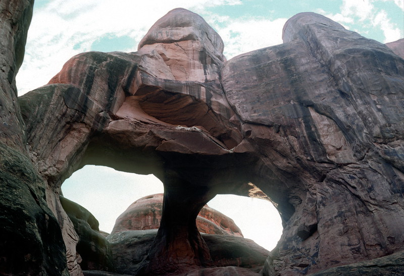 Skull Arch, Fiery Furnace Hike, Arches National Park, 1978.