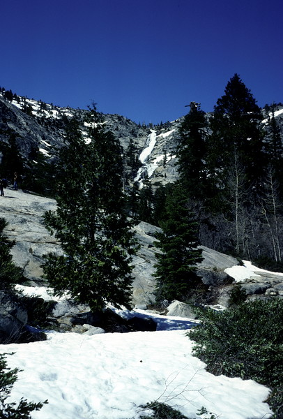 Horsetail Falls, Boy Scout Snow Trip, May 1978.