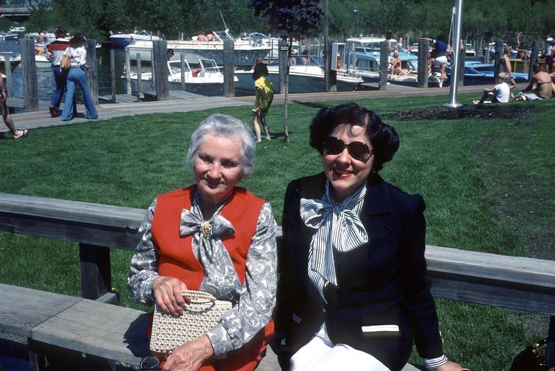 Grandma Komhyr, Flo, at Lord Fletcher's, Lake Minnetonka, Minnesota, 1978.