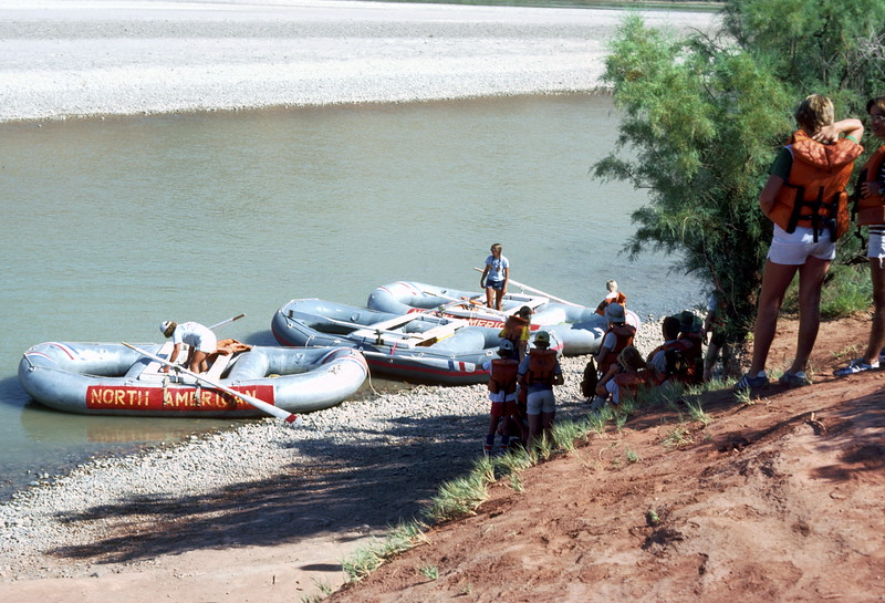 Start of raft trip with North American, 1978.